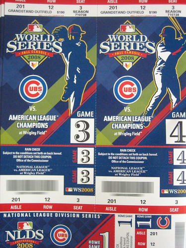 Cubs World Series Tickets