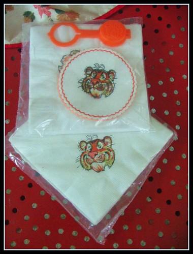 vintage esso exxon tiger napkins