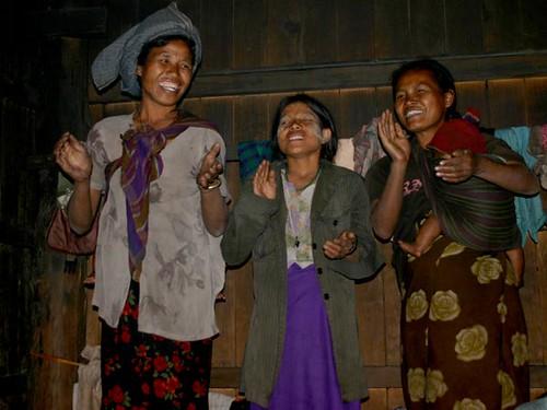 Chin Tribe Women Singing