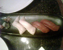 Tuna and yellowtail sushi