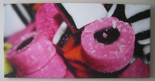Licorice on canvas