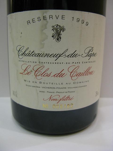 1999 Le Clos du Caillou Châteauneuf-du-Pape Domaine du Caillou Reserve