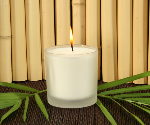 Spa Glass Frosted Candles 10oz. - Made with Soy Wax
