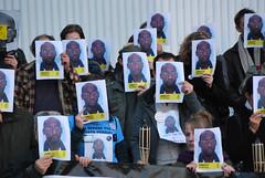 Vigil for Troy Davis, Brussels, Belgium