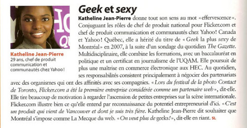 Article infopresse Geek et Sexy