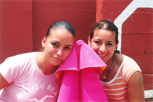 Novillera Lulú de la Vega y Milagros Sánchez en Lima
