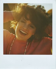 Day 6 - Decade Day (Kate Pulley) Tags: film halloween me polaroid sx70 day 80s 600 maybe hairspray day6 six countdown unfortunately nasty decadeday katepulley chrisseyhanson myhairwaswayfluffierinreallife