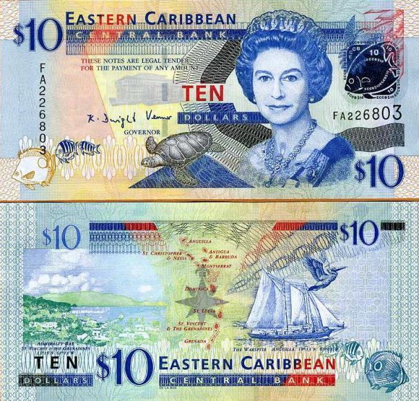 East Caribbean, $10, 2008