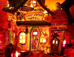 Cozy Coffin Motel (kevin dooley) Tags: favorite house art halloween beautiful wow fun cozy interesting scary fantastic funny flickr pretty very good gorgeous awesome decoration award superior motel indoor super best collection most winner stunning excellent much coffin decor incredible breathtaking bodyshop exciting phenomenal maryellenpage