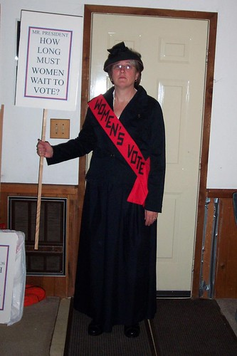 Mom as a suffragette