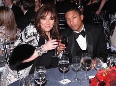 pharrell pollying with a old broad