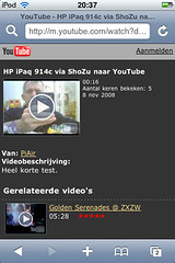 YouTube op iPod touch (foto door: PiAir (Old Skool))