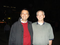David and me, in Barcelona