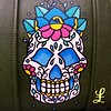 sugar skull carry-on