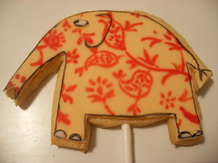 Charlie and Lola Cookies, Elephant (neviepiecakes) Tags: flowers elephant cookies painted butterflies biscuits lollipops fondant sausagedog charlieandlola sizzles