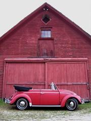 1960 VW convertible, Riverton, Connecticut (63vwdriver) Tags: old vw barn vintage bug volkswagen connecticut beetle ct convertible 1960 cabriolet aircooled riverton