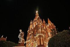Iglesia (more1707) Tags: digital canon mexico edificios iglesia cielo estrellas noches fiatlux