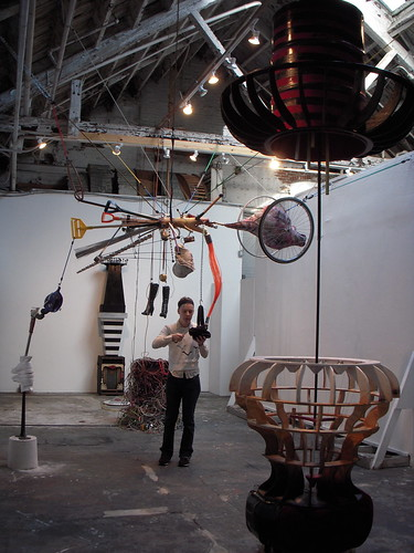 Martha Savery and the sound sculptures