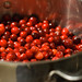Cranberry sauce in the making
