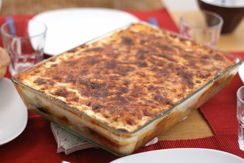 Plat de lasagnes à la moussaka