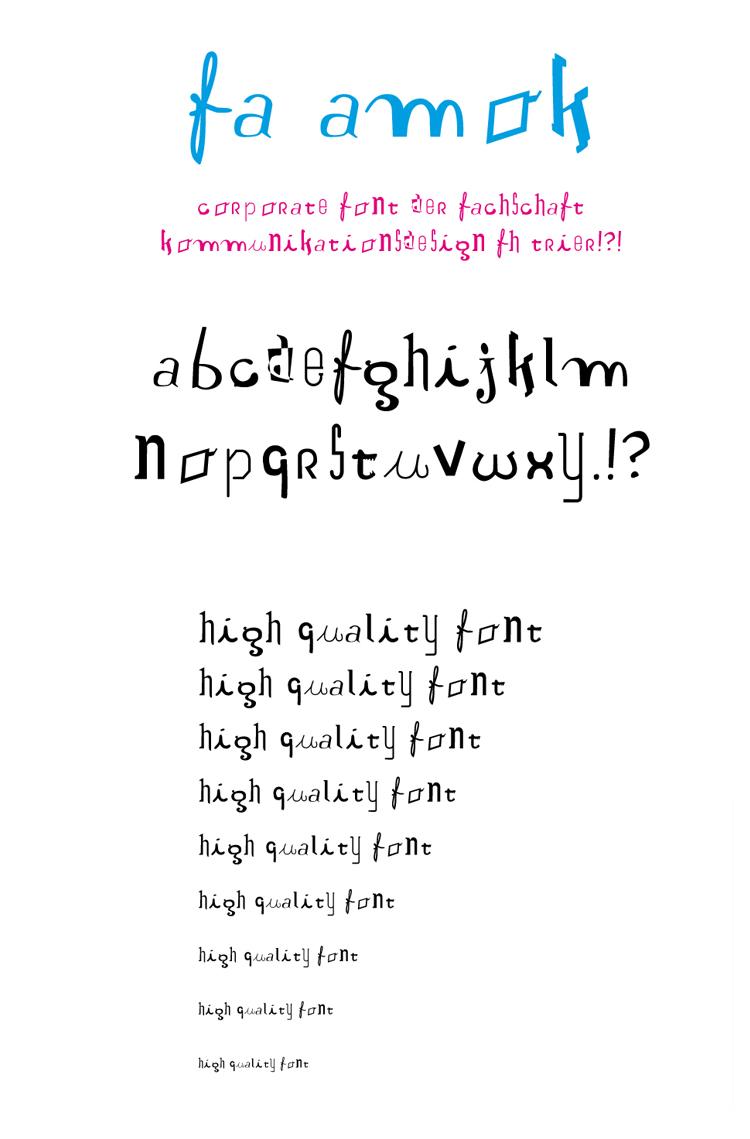 fa amok font