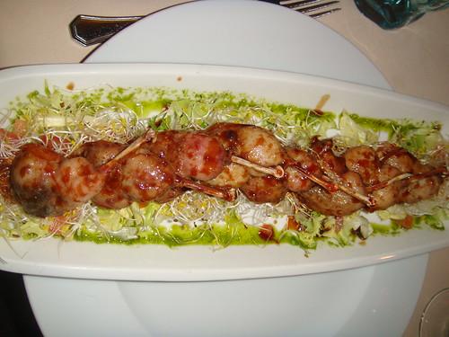 Ensalada de chupachus de codorniz