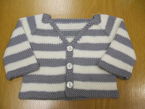 Aliki's finished Felix cardigan