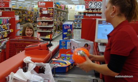 Allison purchasing her goodies...