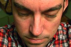 Cut down lashes closeup
