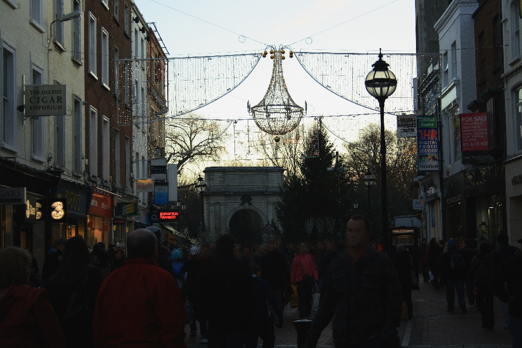 Grafton Street, Dublin, Ireland, Europe.   The Run Up To Christmas