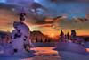 Blazing Sunset On Mount Rainier (kevin mcneal) Tags: winter sunset snow sunrise canon nationalpark paradise seasons mountrainier mountrainiernationalpark pacificnorthwest washingtonstate winterscape longmire worldbest canon5dmk2 longmireinn