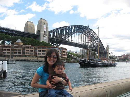 Harbour Bridge and Ship