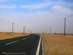 Walking Away (Aisha Altamimy) Tags: road street desert kuwait roads walkingaway q8 ozq8 pinkocean85