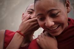 Ladakh-201 (Kelly Cheng) Tags: travel portrait people woman india color colour tourism smile horizontal female daylight women colorful asia outdoor religion buddhism nun colourful copyspace persons himalaya himalayas jk ladakh nunnery subcontinent jammukashmir ridzong kashmirjammu chomoling