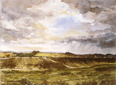 Art: watercolour: ...fields in the Ardennes, Nothum, Luxembourg (Nadia Minic) Tags: champs felder fields nature natur sommer saarlorlux summer shadow schatten watercolor wasserfarben harmonie europe culture aquarell aquarelliste watercolour photo oeuvre nadia minic luxembourg kunst kultur gallery galerie foto exposition exhibition couleur beauxarts atelier artistepeintre artist artcontemporain art aquarelle athmosphre himmel ciel sky sonne soleil sunshine rain regen pluie ardennes ardennen impressionniste watercolourpainter mood ambiance aquarellistin aquarellmalerin painter painting maler pittrice acquarello rescue rettung american soldiers trups war lastwar theardennes nothum capitalfight nadiaminic peintureluxembourg luxembourgpainting
