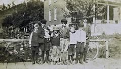 "Ed's great-grandfather's house and ""the boys"" (spysgrandson--thanks for 2,000,000 views!) Tags: 1920s blackandwhite pennsylvania greatgrandfather 1920 sixmilerun vintagephoto"