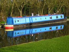 barge, grand union canal, milton keynes (insert_user_name) Tags: blue reflection marina canal miltonkeynes barge grandunion