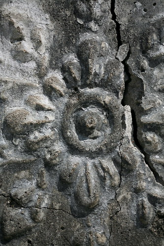 flower relief from the ruined pavilion