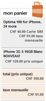 iphone 3gs 16go suisse