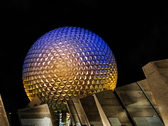 The Iconic Geodesic Sphere at Disney's EPCOT theme Park, Walt Disney World FL. (Harvey-Harv) Tags: nightphotography epcot sony disney noflash waltdisneyworld orlandofl futureworld disneysepcot sonyglens dschx1 idhangthatonmywall sonydschx1