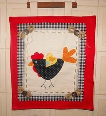 MELL (TELMELITA) Tags: galinha country artesanato boto feltro patchwork cozinha tecido trabalhomanual
