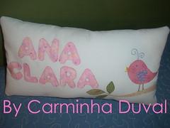 Para uma menininha - For a little baby girl - As all my work, this  was hand apliqué .  (baronesinha100@gmail.com) (baronesinha_baronesinha) Tags: passarinho patchwork corderosa almofada letras aplicação almofadinha