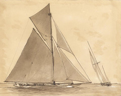 "Sepia Illustration of 23m Yacht • <a style=""font-size:0.8em;"" href=""http://www.flickr.com/photos/64357681@N04/5867083162/"" target=""_blank"">View on Flickr</a>"