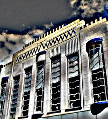 art deco building (~ paddypix ~) Tags: blue liverpool photoshop buildings moodyblues ukandireland urbanside ~wevegotthepower~