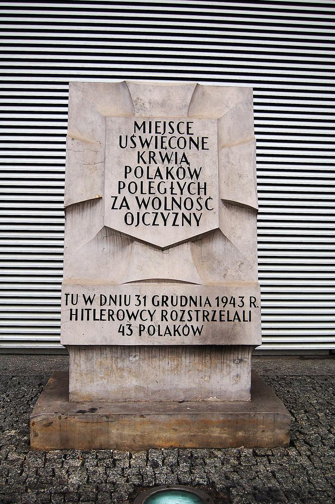 War Memorial, Kyriad Prestige Hotel, Warsaw, Poland 21/02/2008