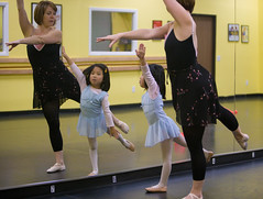 .becoming a ballerina. (arkworld) Tags: ballet jessie mirror ballerina teacher balletclass pfjm3 public4now