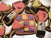 Glamour Girl.... (nikkicookiebaker) Tags: martini lipstick nailpolish argyle decoratedcookies