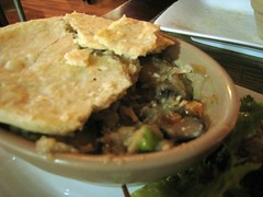 Mushroom pot pie, The Green Table