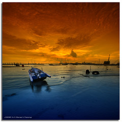 Orange and Blue (DanielKHC) Tags: park blue sunset sea panorama orange west beach vertical digital landscape coast boat interestingness high bravo singapore industrial dynamic sony cranes explore alpha bec filters range fp frontpage dri increase hdr a100 blending dynamicrangeincrease interestingness10 firstquality 3exp tamron1118mm mywinners artlibre danielcheong diamondclassphotographer danielkhc explorefp vertorama explore24mar08