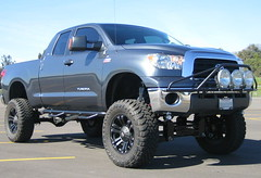 Custom lifted Tundra is too big.